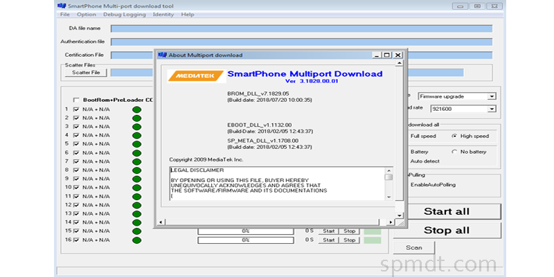 Download SP MDT Tool - The Latest SPMDT v3 1828 for MediaTek Androids